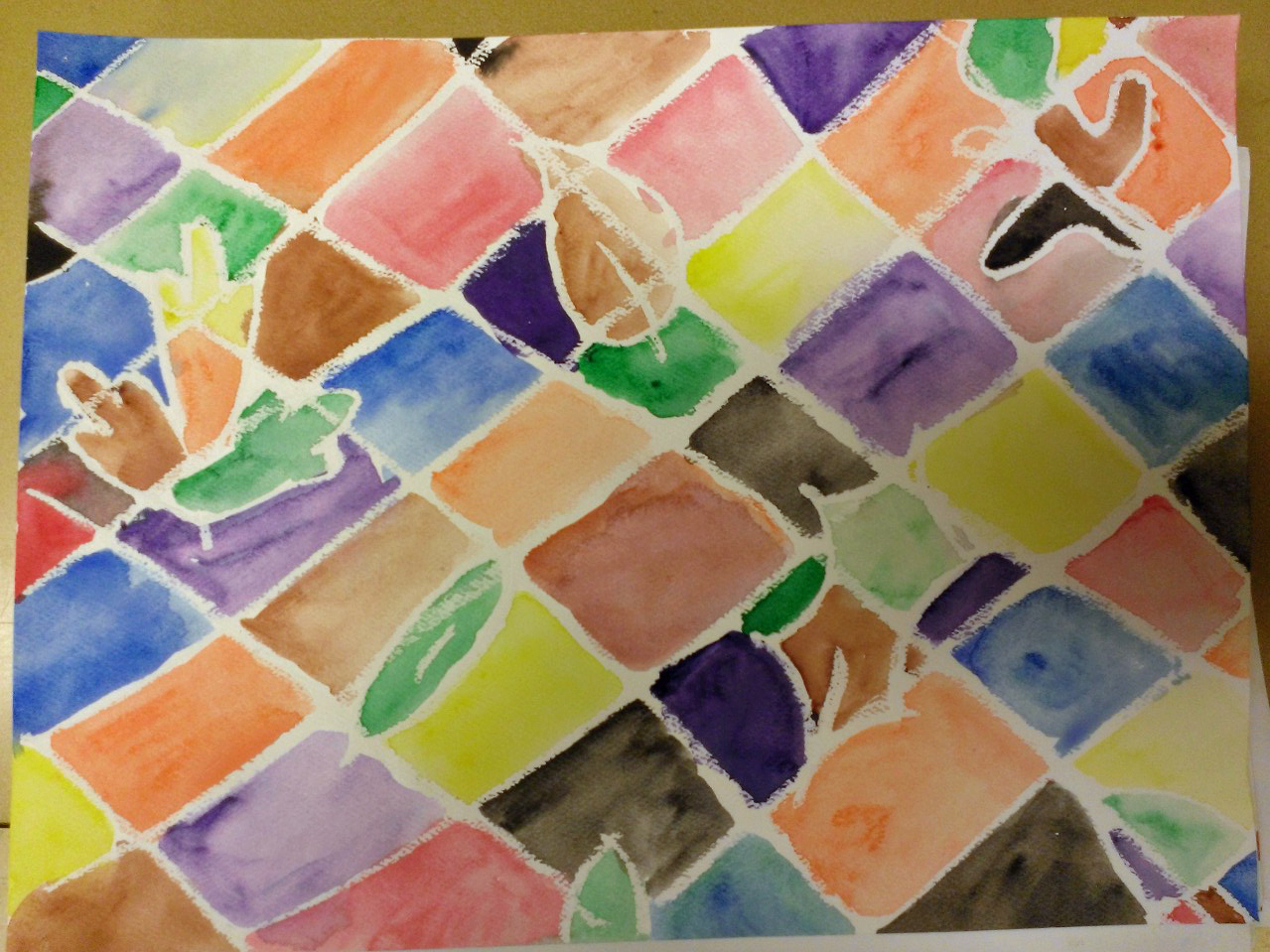 5th Grade - Oil Pastel Resist