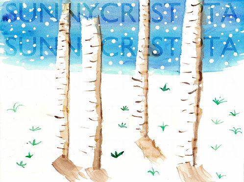 Mr. Brandt's Class - Angie (Birch Trees)