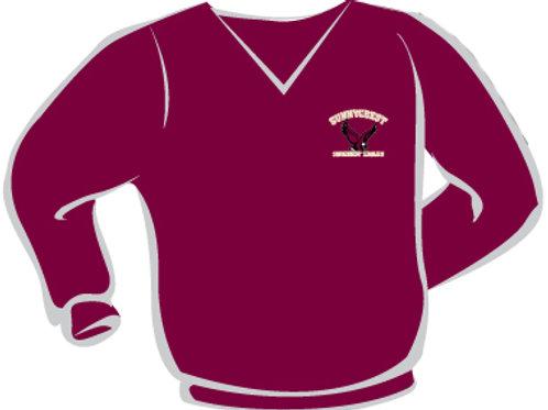 V-Neck Nylon Wind Shirt (Larger Adult Sizes)