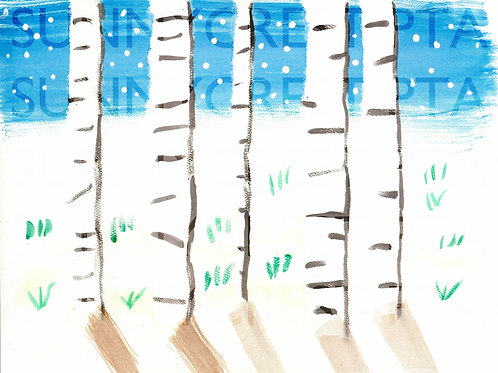 Mr. Brandt's Class - Gabriela (Birch Trees)