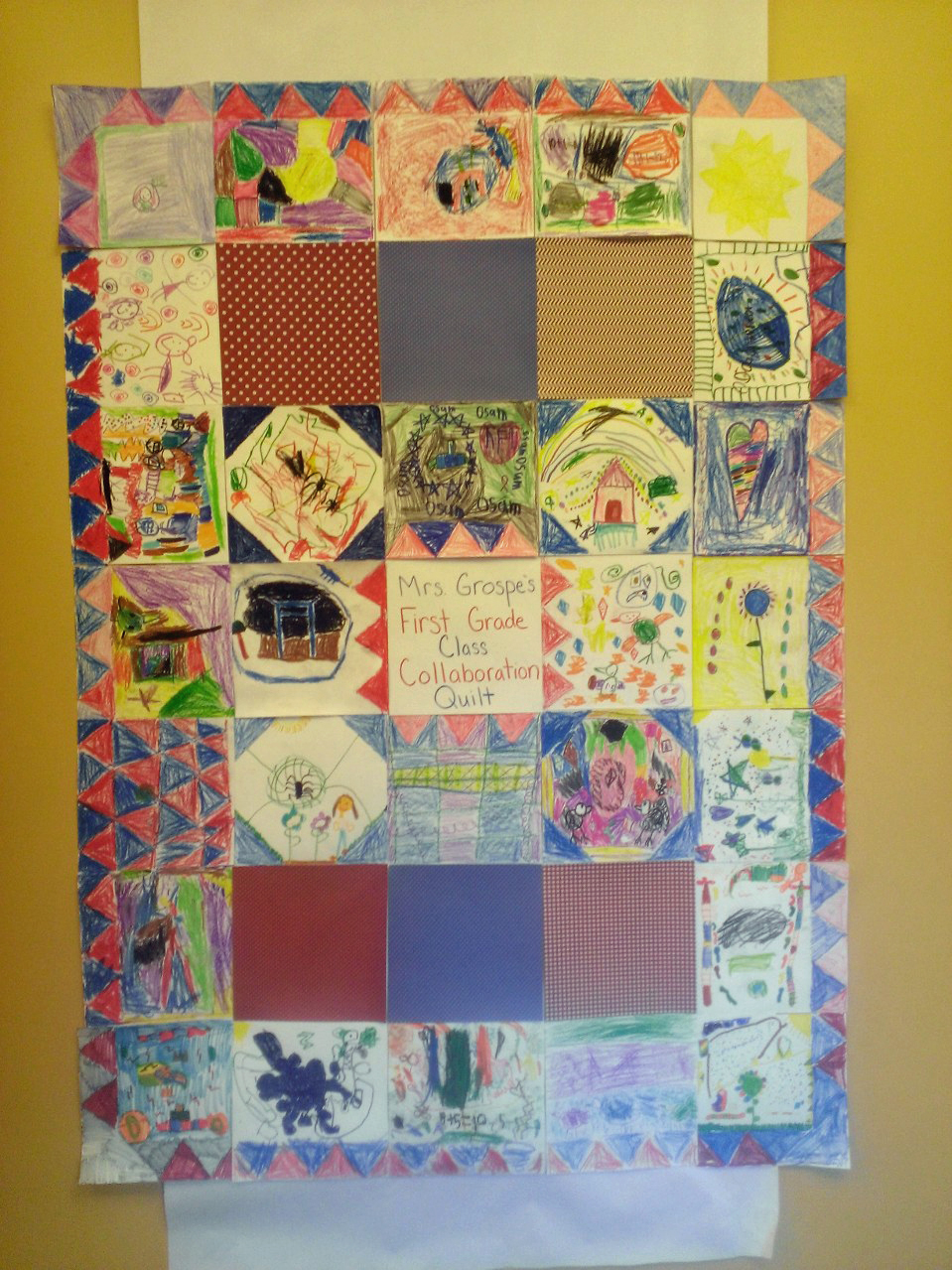 1st Grade - Collaboration Quilt