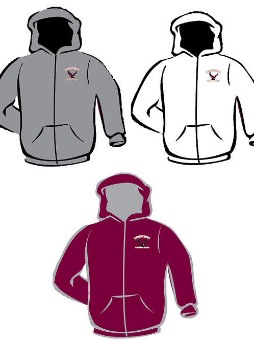 Full Zip Hooded Sweatshirt (Larger Adult Sizes)