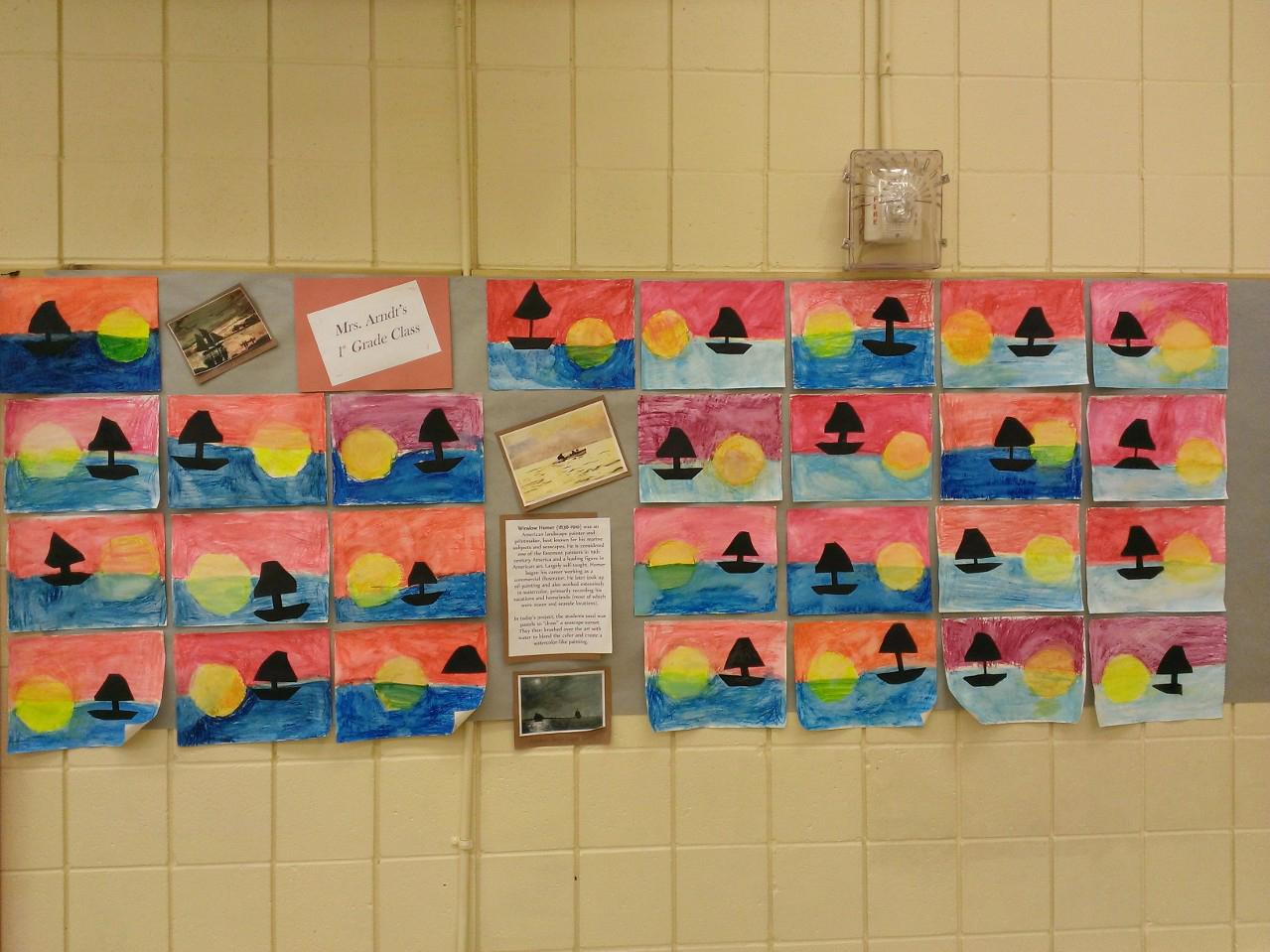 1st Grade - Winslow Homer Sunsets