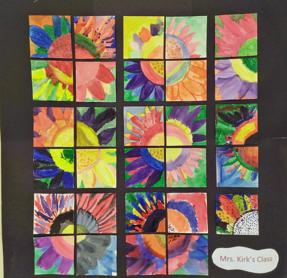 4th Grade - Flower collage