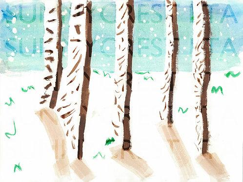Mr. Brandt's Class - Michael (Birch Trees)