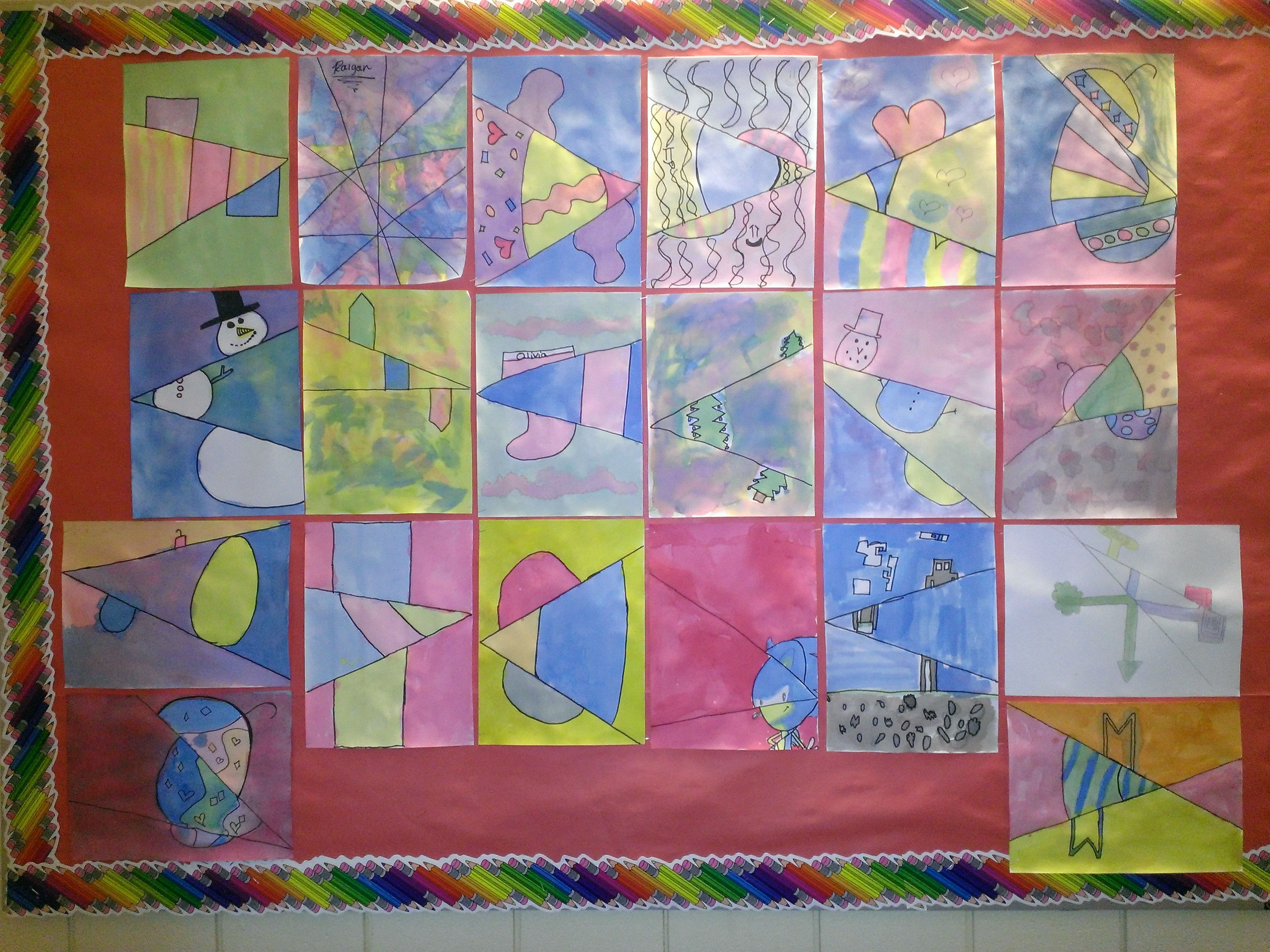 5th Grade - Slip Slidin' Art
