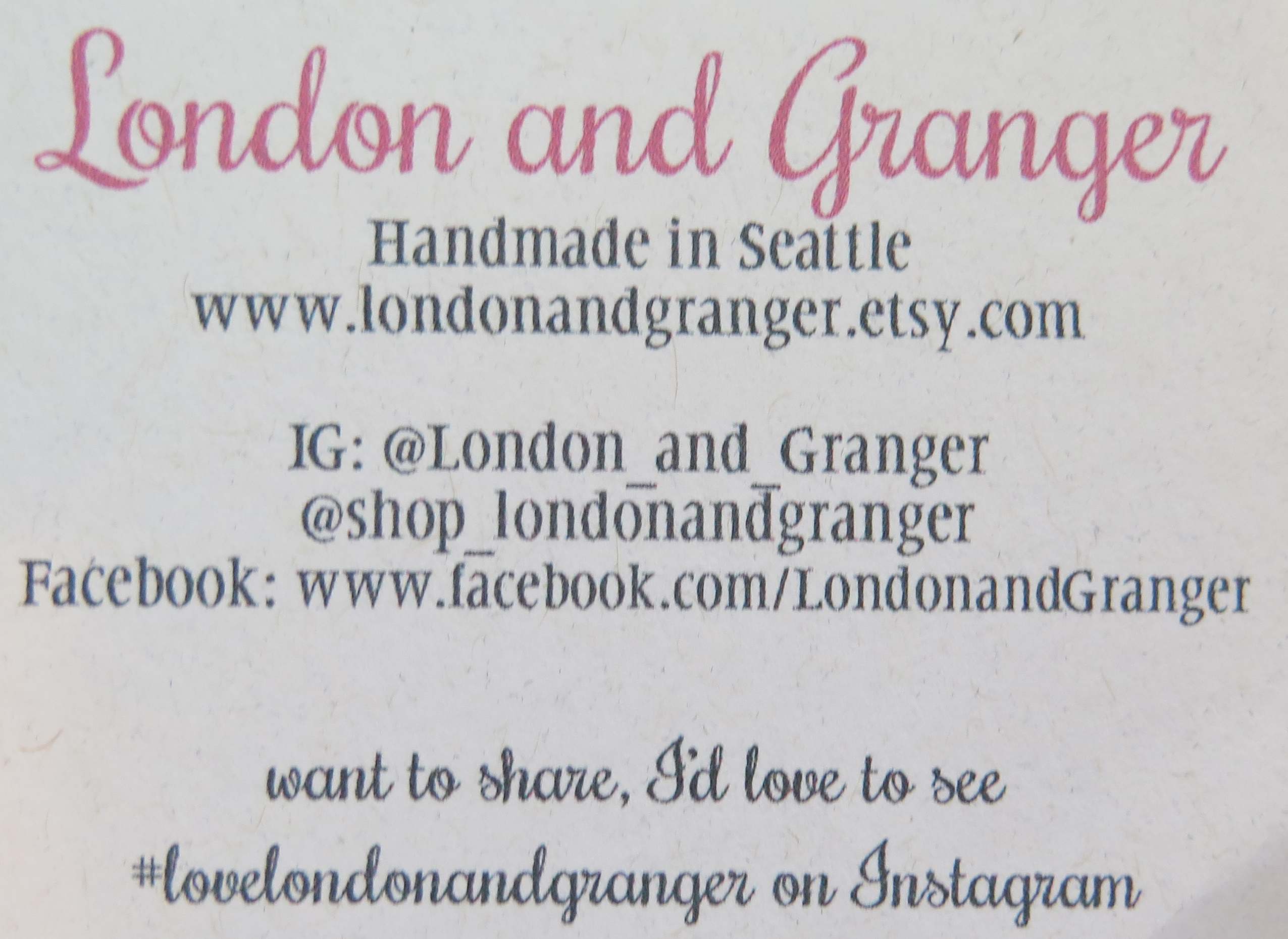 London and Granger