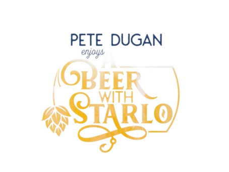 Pete Dugan enjoys A Beer With Starlo