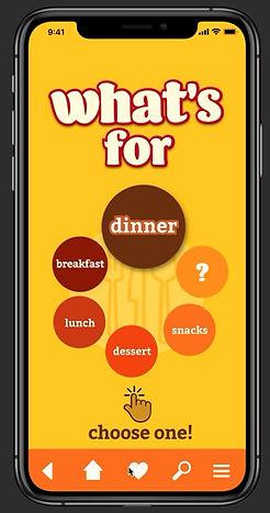 Whats for Dinner recipe app