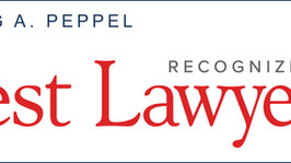 "Peppel named to ""Best Lawyers in America"""