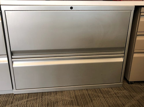 """Knoll Calibre 1 lateral file drawer & 1-13.5"""" receding door with fixed shelf"""
