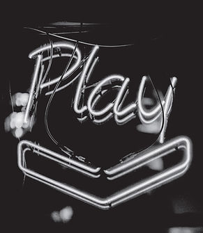 Play - Black and White Neon Sign