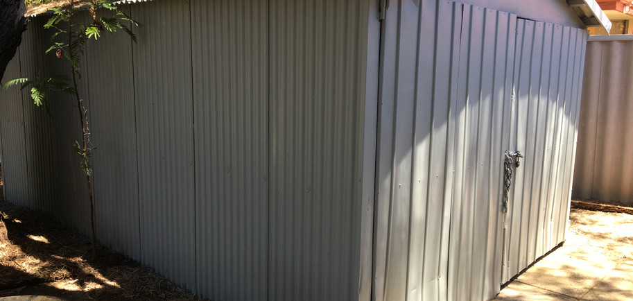 Asbestos Shed Painted