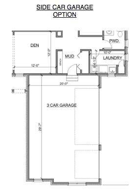 Side Turned Garage Option