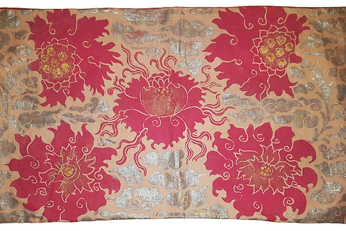 Tibetan Peonies Pillow
