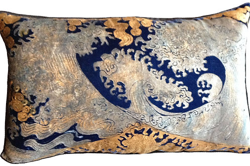 Hokusai Pillow