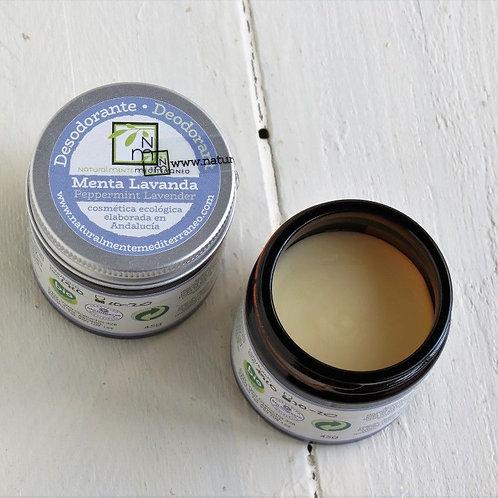 Desodorante en crema Menta Lavanda
