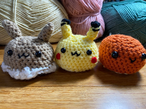 Pikaborb, Eveborb, and Charborb