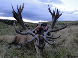 Joe and Debbie Pedersen with Joe_x27_s Red Stag