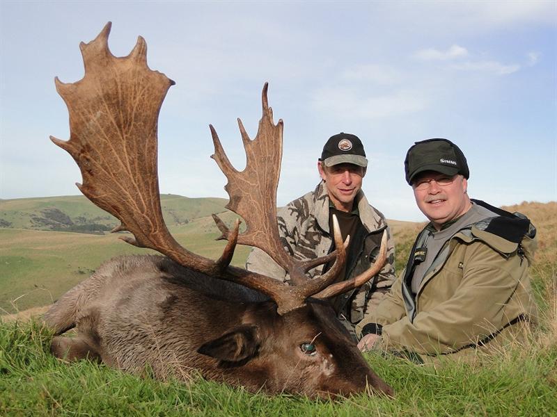 Joe with Fallow Deer