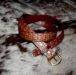 Croc Belt Brown