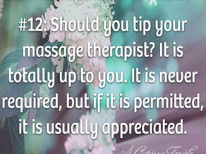 20 Massage Tips for (the rest of) 2020 #12