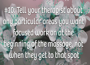 20 Massage Tips for (the rest of) 2020 #10