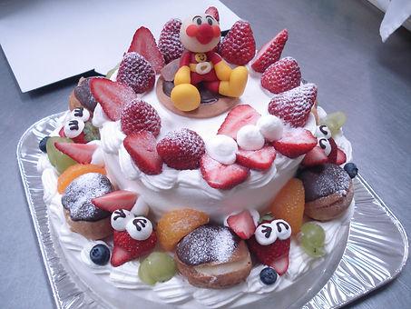 デコレーションケーキ8号+5号