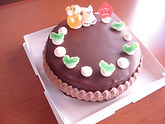 チョコバタークリームケーキ