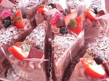 生チョコのショートケーキ
