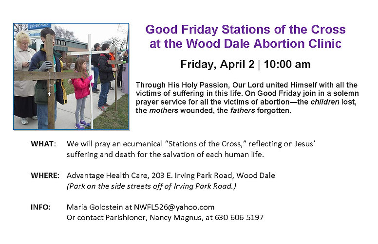 Good Friday Stations of the Cross bullet