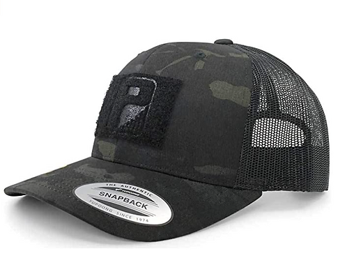 Curved Bill Black Multicam Snapback