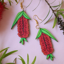 Bottlebrush (Callistemon) Native Australian Flora Earrings