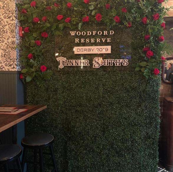 Woodford Reserve KY Derby Sponsor - Larkspur Botanical Flower Walls