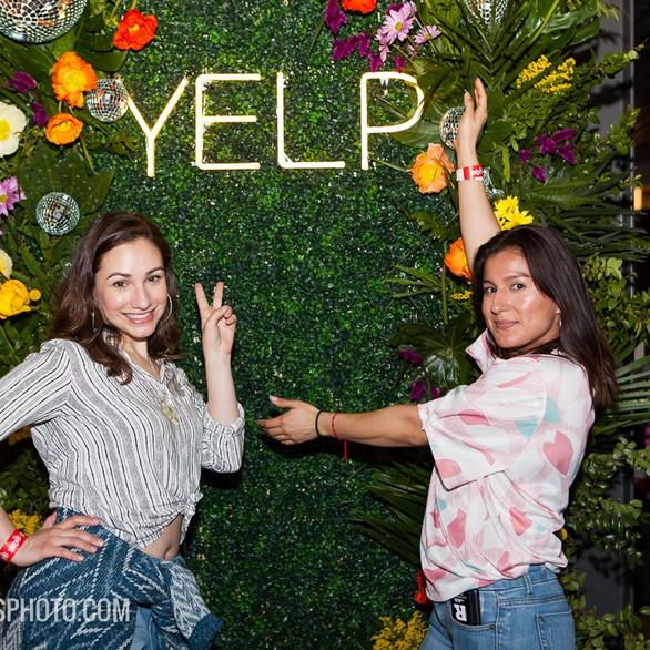 YELP Flower Wall by Larkspur Botanicals