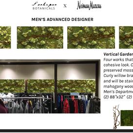 Vertical Moss Garden NYC NJ Larkspur Botanicals