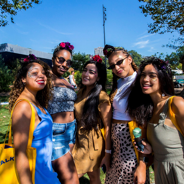 Larkspur Botanicals Disney Maleficent Flower Crown Bar at Bustle Rule Breakers Festival 2019