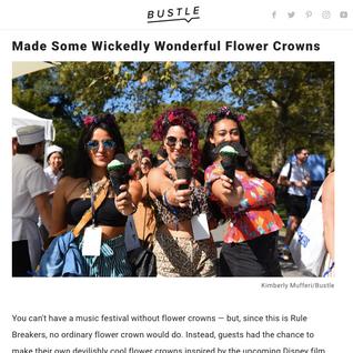 LARKSPUR Botanicals Floral Crowns at Bustle's Rulebreakers 2019 for Disney