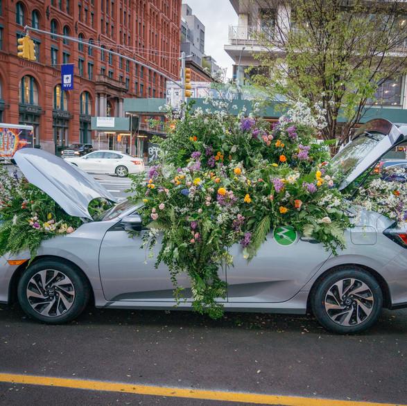 ZipCar Flower Flash NYC