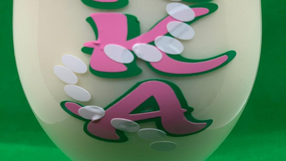 Pink & Green w-pearls