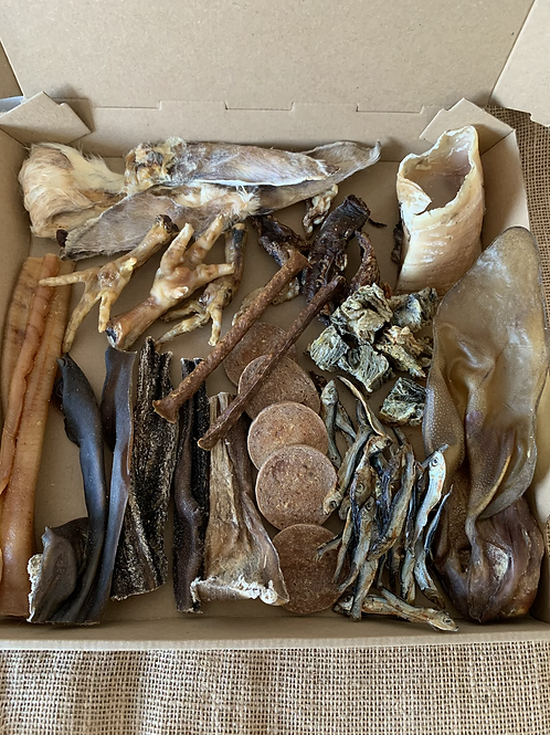 Meat/Fish variety treat box