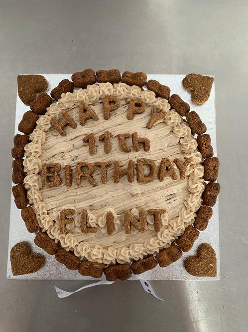 Large round cake
