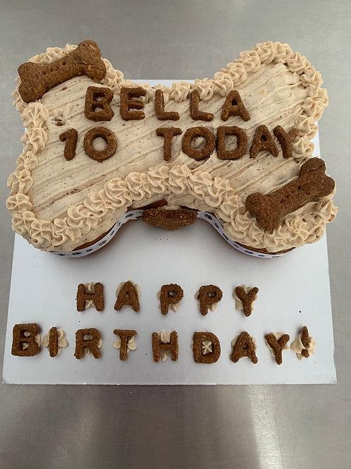 Bone shaped cake