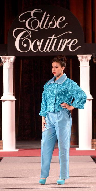 2pc. Turquoise Pants Suit