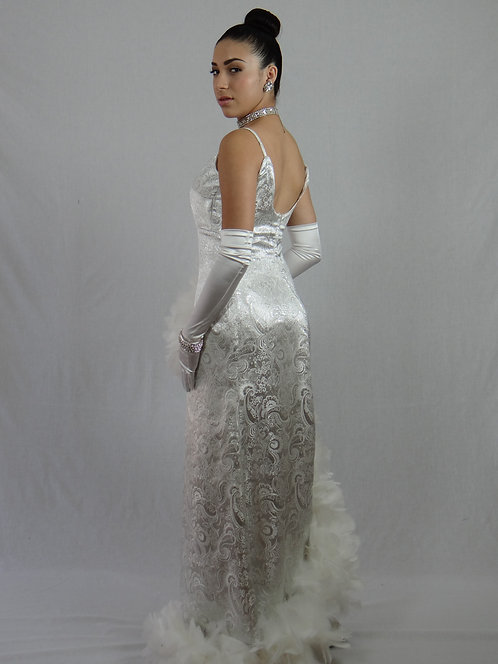 Silver/White Gown