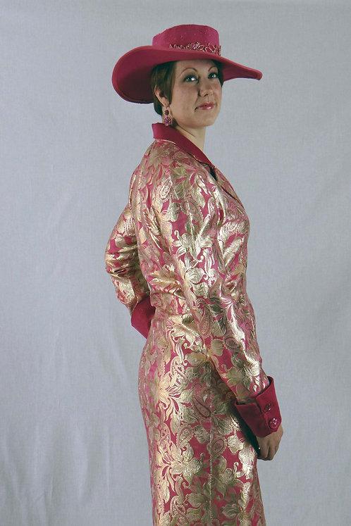 Pink Brocade Coat Dress