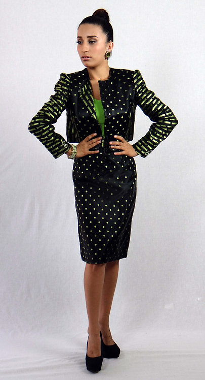 Lime Green/Black 2pc. Suit