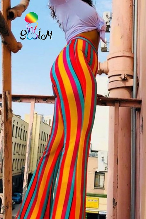 Rainbow Flared Trousers