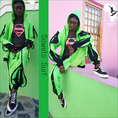 Soweto Surf Lime Tracksuit
