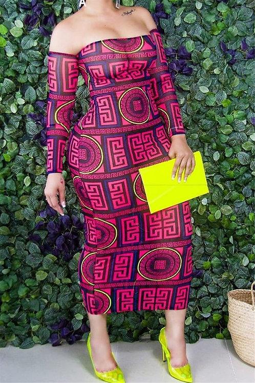 Print Tube Top Dress